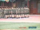 北京天安门升旗仪式的官兵们正在训练