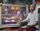 中国文化传播网书画院油画大师候耘大画廊室的近照